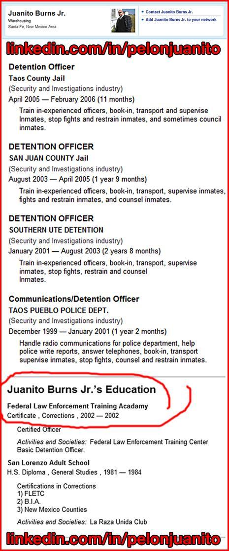 retired law enforcement resume